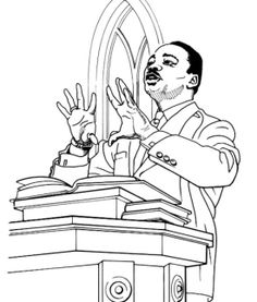Martin Luther King Jr March On Coloring Page  Printable Coloring