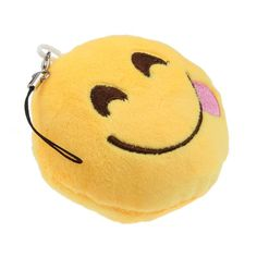 Tongue Out Smiley Emoji Keychain
