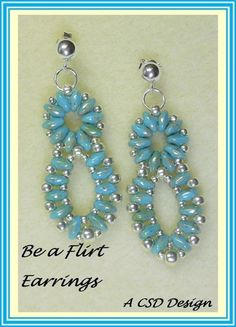 Be a Flirt (Super Duo)Earrings: Beading Tutorial | CSDDesign - Jewelry on ArtFire