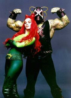 poison ivy and bane - batman & robin