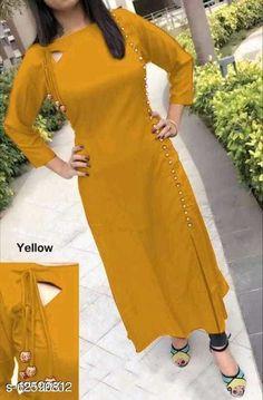 Kurtis & Kurtas Women'S Solid Rayon Kurti Fabric: Rayon Sleeve Length: Three-Quarter Sleeves Pattern: Self-Design Combo of: Single Sizes: S (Bust Size: 37 in, Size Length: 44 in)  XL (Bust Size: 43 in, Size Length: 44 in)  L (Bust Size: 41 in, Size Length: 44 in)  M (Bust Size: 39 in, Size Length: 44 in)  XXL (Bust Size: 45 in, Size Length: 44 in)  XXXL (Bust Size: 47 in, Size Length: 44 in)  Country of Origin: India Sizes Available: S, M, L, XL, XXL, XXXL   Catalog Rating: ★4.1 (461)  Catalog Name: Chitrarekha Fashionable Kurtis CatalogID_2433686 C74-SC1001 Code: 203-12590812-507