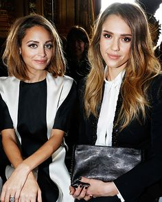 Nicole Richie and Jessica Alba - Front Row Favorites - Fashion Week Spring 2014 - Fashion - InStyle