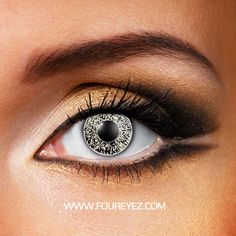 Glimmer Black & Gold Coloured Contact Lenses (Pair)