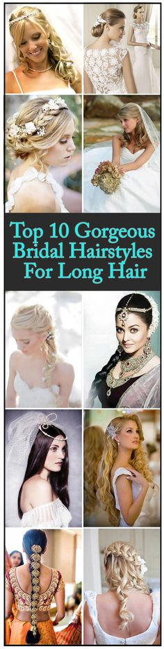 Top 10 Gorgeous Bridal Hairstyles For Long Hair
