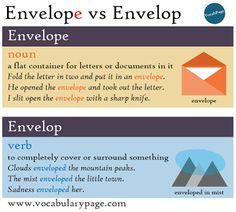 Envelope vs Envelop http://www.vocabularypage.com/2017/02/envelope-vs-envelop.html