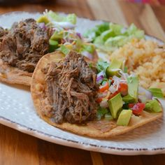 In this Chipotle® copycat recipe, beef is slow-cooked barbacoa-style - with garlic, lime, and chipotle chile peppers - and then shredded. Shredded Beef Recipes, Spicy Recipes, Copycat Recipes, Slow Cooker Recipes, Mexican Food Recipes, Crockpot Recipes, Cooking Recipes, Ethnic Recipes, Spanish Recipes