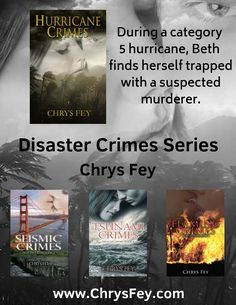 The Disaster Crimes Series started with the desire to write just one story. Years ago, I read a book set during a blizzard. When I finished reading it, I realized how many winter stories I've read, but I had never read one about weather I knew…hurricane weather. Right away, I set off to write that story. I knew I wanted it to be a romantic-suspense. Except, I didn't want it to be typical. What better way to do that than by making my heroine's counterpart a suspected murderer? Click for more.