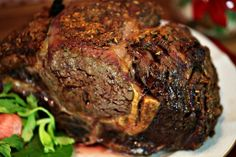 The perfect  recipe for Christmas.  Rosemary Garlic Crusted Prime Rib www.fooddonelight.com
