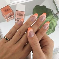 Hair And Nails, My Nails, How To Gel Nails, Neon Nails, Stars Nails, Subtle Nails, Best Gel Nail Polish, Best Nail Art, Peach Nails