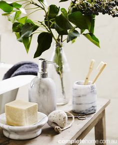Beautiful marble bathroom accessories