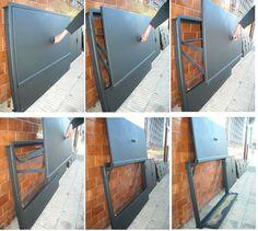 puerta para parrillas