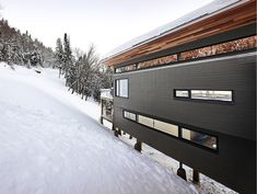 Derby St. Laurentian Ski Chalet in Quebec, Canada by Robitaille Curtis architecture