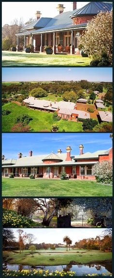 Banongill Homestead, Skipton, is situated on Mount Emu Creek, in the area discovered by Major Mitchell. The property was first settled in and a bluestone cottage built (now part of the homestead kitchen). The present large homestead was built by the Australian Architecture, Australian Homes, Country Estate, Country Farm, Victorian Rooms, Victorian Houses, Victoria Australia, Melbourne Victoria, Homestead Gardens