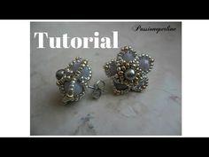 ▶ Tutorial orecchino a perno con cristalli e rocailles - YouTube