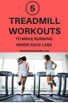 5 Fun Treadmill Workouts to make running inside not awful. Try one today and get your run on, treadmill style! Treadmill Workouts, Running On Treadmill, Running Workouts, Running Tips, Walking Workouts, Race Training, Running Training, Training Equipment, Running Humor