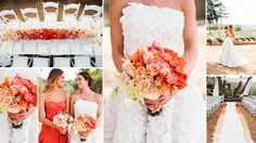 coral and. peach wedding bouquet - Google Search