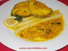 Caceroladas: Merluza en salsa con esparragos
