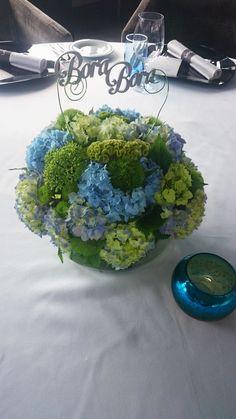 bd241e27b0 Csokrok, virágdíszek esküvőre - Orsi Dekor - Esküvői dekoráció és esküvői  kellékek széles választékban. Kék-zöld virágos ...