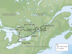 **Eastern Canada Self Drive Tours Highlights: Toronto | Niagara Falls | Muskoka Country | Ottawa | Montreal | Quebec City | Kingston |** Explore the main highlights of Ontario & Quebec including Toronto, Niagara Falls, Muskoka Region and the Province of Quebec. - Toronto, diverse and multi-cultural - Niagara Falls Hornblower Niagara Cruise (Canadian Signature Experience) - Journey behind the f...