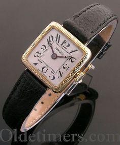 1920s 9ct gold square vintage Rolex watch (3743)