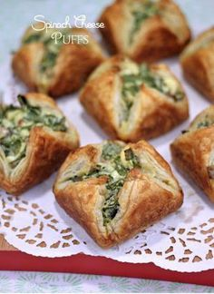 Spinach Bacon Cheese Puffs -Preheat oven tо 400 degrees F.