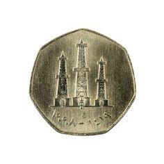 united arab emirates fils coin reverse isolated on white background