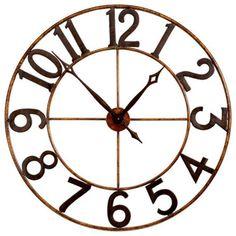 Oversized Rustic Wall Clock Rustic wall clocks Rustic walls and