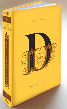 """Una belleza estas primeras 6 portadas para la serie de libros """"Drop Cap"""" de la editorial Penguin donde se reeditarán algunas de las mas famosas obras de la literatura contemporánea. Este trabajo pertenece a la talentosa Jessica Hische en colaboración con Paul Buckley."""