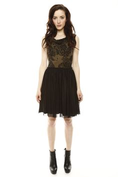 I would have worn open-toed shoes with this dress, but it's still super cute.