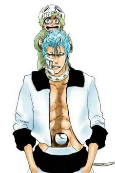 Grimmjow and Nel... She's got a new pet Kitty I see XD LOL