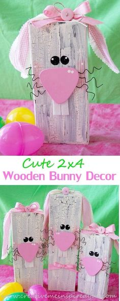 Easter Bunny Decor from 2x4s - Complete tutorial!