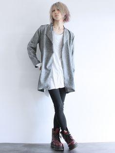 ShotaroKonishiさんのステンカラーコート「 チェスターデザインロングジャケット」を使ったコーディネート
