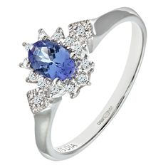Bague Femme - PR08086W Tanz-P - Or Blanc 375/1000 (9 Cts) 1.9 Gr - Diamant / Tanzanite 0.004 Cts #Bague #Bagues #Or #Femme #Bijoux #Blanc #Fiancaille #Perle #Diamant #Mariage #Pierre #Saphir #Emeraude #Joaillerie #Fantaisie #Rubis Opale #Topaze #Anneau #Alliance