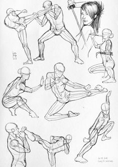 How to Draw the Human Body - Study: Action Body Positions for Comic / Manga Character Reference