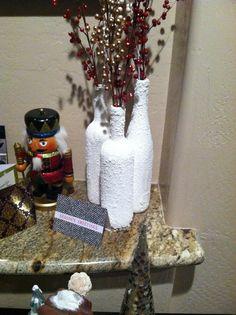 Snow wine bottle craft