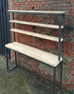 Reclaimed Wood Breakfast Bar Shelving Unit Dresser Combo