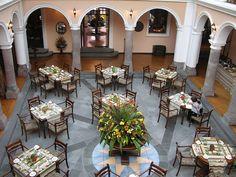 Ecuador Quito Old Quito Hotel Patio Anduluz Courtyard Worldwide Hotels, Courtyard Restaurant, Ecuador Quito, Courtyards, Table Settings, Patio, Google Search, Architecture, Luxury