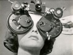 Love this! 1945 image of a phoropter- who said eye care wasn't glamorous?  http://www.museumofvision.org/collection/artifacts?accession=1993.019.00003