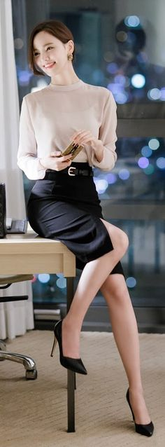 Classy Professional Fashion See more at http://www.spikesgirls.com