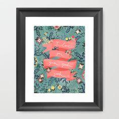 Flowers II Framed Art Print by Karen Hofstetter - $52.00
