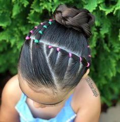 All of these hair-styles will be fairly simple as well as are a great option for novices, fast and easy young one hair styles. Easy Toddler Hairstyles, Easy Little Girl Hairstyles, Girls Hairdos, Baby Girl Hairstyles, Cute Hairstyles, Young Girls Hairstyles, Hairstyles Videos, Braids For Kids, Curly Hair Styles