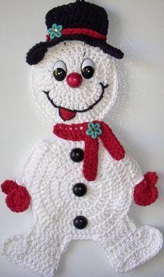Ravelry: Crochet Snowman Applique pattern by Samantha Caffee