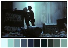 Sid and Nancy, Alex Cox. Movie Color Palette, Colour Pallette, Color Palate, Colour Schemes, Colour Combinations, Movies In Color, Color In Film, Cinematic Lighting, Sid And Nancy
