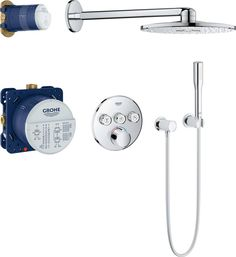 Grohe SmartControl + Rainshower Cosmopolitan 210 Cosmopolitan, Bathroom, Shopping, Shower Systems, Picture Cards, Stretching, Taps, Washroom, Bathrooms
