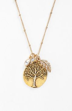 Tree of life cluster necklace