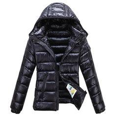 2014 Moncler Bady Winter Women Down Jacket Zip Hooded Black Safe Shipping UK On Sale,Moncler Women,Moncler Jackets Women
