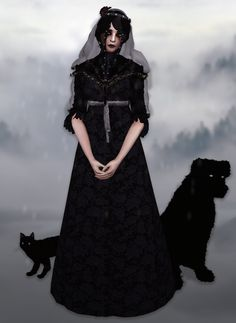 Sims 4 CC's - The Best: Iris (converted from The Witcher by Elliesimple. Sims 4 Ps4, Sims Cc, Witch Dress, Witch Outfit, Sims 4 Mods, Gothic Dress, Gothic Lolita, Sims 4 Dresses, Sims 4 Characters