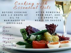 Marinades and Sauces...YUM!  Would only use Young Living essential oils because the supplemental facts on each bottle shows they are safe to ingest. Let's get cooking!