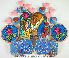 Disney Party ideas: Beauty & the Beast cookies