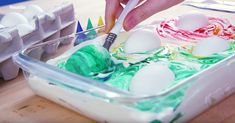 How to Make Cool Whip Marbled Eggs